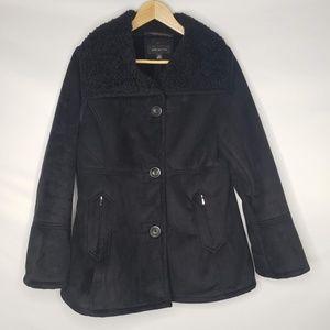 Jones New York Faux Fleece Suede Jacket